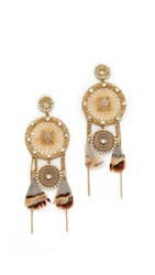Deepa Gurnani Joelle Earrings Gold
