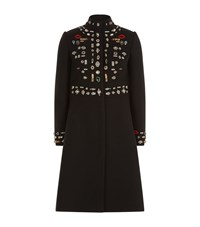 Alexander Mcqueen Obsession Fitted Cape Coat Female Black