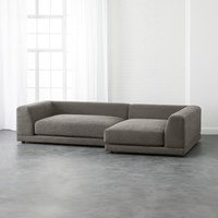 Cb2 Uno 2 Piece Sectional Sofa