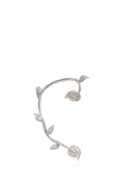 Elise Dray Leaves Ear Cuff Earrings White Gold