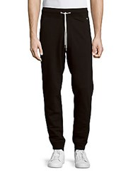 Rag And Bone Solid Cotton Sweatpants Black