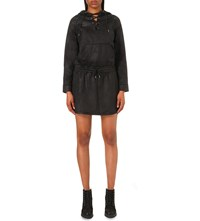 The Kooples Hooded Faux Leather Dress Black