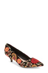 Sole Society Women's 'Desi' Pump Red Floral Embroidery