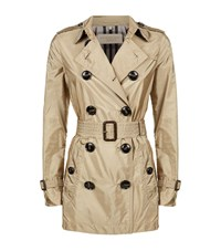Burberry Kerringdale Technical Trench Coat Female Camel