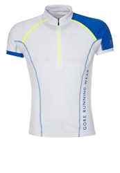 Gore Running Wear Xrun Ultra Sports Shirt White Brilliant Blue