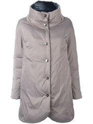 Herno High Neck Reversible Coat Nude Neutrals