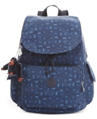 Kipling Ravier Backpack Monkey Mania Blue