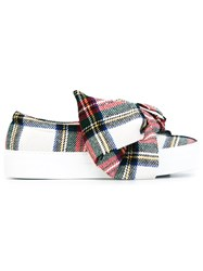 Joshua Sanders Plaid Slip On Sneakers