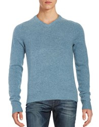 Original Penguin Marled Wool V Neck Sweater Aegean Blue