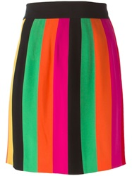 Moschino Vintage Striped Mini Skirt Pink And Purple