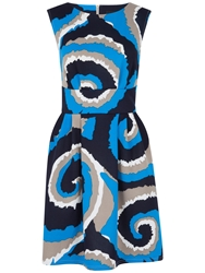 Closet Scuba Print Gathered Dress Multi Coloured