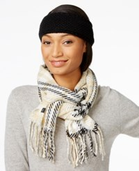 Echo Plaid Scarf And Boucle Headband Gift Set Black