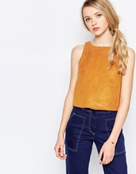 Sister Jane Ash Ra Top In Suedette Tan