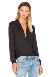 L'academie The Surplice Blouse Black