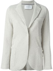 Harris Wharf London Textured Fitted Blazer Nude And Neutrals