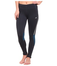 New Balance Mid Rise Impact Tight Outer Space Deep Water Women's Workout