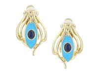 House Of Harlow Risha Clip On Earrings Turquoise Earring Blue