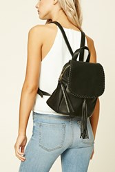 Forever 21 Tasseled Flap Top Backpack