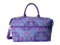 Vera Bradley Lighten Up Expandable Travel Bag Lilac Tapestry Weekender Overnight Luggage Purple