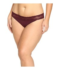 Natori Bliss Perfection Plus Thong Merlot Women's Underwear Red