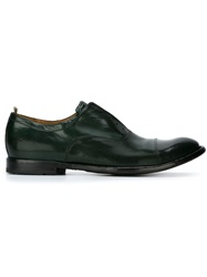 Officine Creative Laceless Oxford Shoes Green