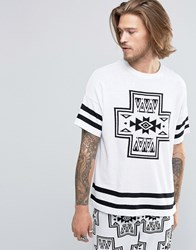 Asos Knitted T Shirt With Aztec Design White