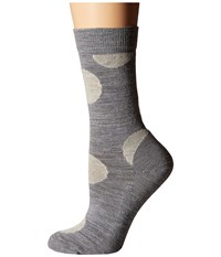 Smartwool Polk A Dot Crew Light Gray Heather Women's Crew Cut Socks Shoes