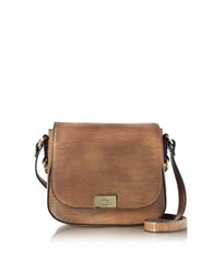 Roccobarocco Lizard Print Eco Leather Crossbody Bag Brown