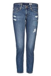 Adriano Goldschmied Distressed Cropped Jeans