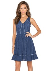 Greylin Sammy Eyelet Lace Dress Blue