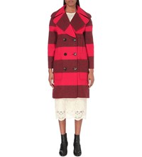 Mih Jeans Richards Wool Blend Coat Red Stripe