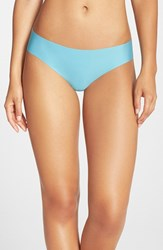 Women's Halogen 'No Show' Thong Teal Dolphin