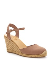 Me Too Bethany Leather Wedge Platform Pumps Brown