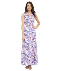 Nydj Double Ggt Maxi Wrap Dress Butterfly Orchid Women's Dress Pink
