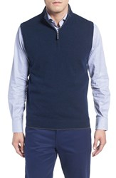 John W. Nordstromr Men's Nordstrom Quarter Zip Cashmere Vest Blue Estate Heather
