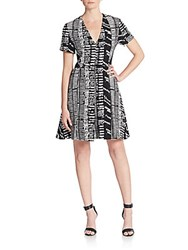 Proenza Schouler Woodblock Jersey Knit Dress Black White