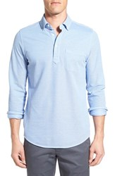 Bonobos Men's Slim Fit Long Sleeve Pique Polo Classic Blue