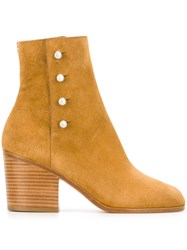 Maison Martin Margiela Studded Ankle Boots Nude And Neutrals