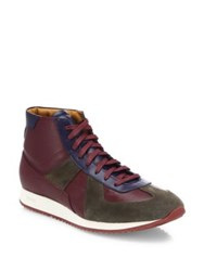 Facto Leather Lace Up High Top Sneakers Karibou