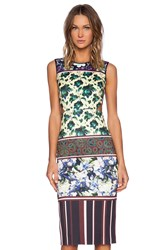 Clover Canyon Floral Collage Dress Yellow