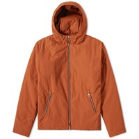 Folk Wadded Hooded Jacket Orange