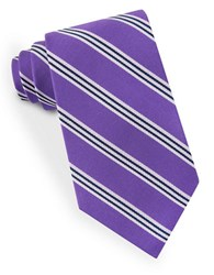 Lord And Taylor Racer Stripe Tie Purple
