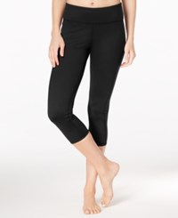 Gaiam Luxe Yoga Capri Leggings Black