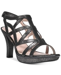 Naturalizer Danya Dress Sandals Women's Shoes Black Pewter