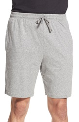 Boss 'Nos' Stretch Cotton Lounge Shorts Medium Grey