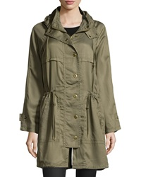 Raison D'etre Hooded Anorak Jacket Brit Khaki