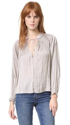 Ulla Johnson Rosamund Blouse Mink