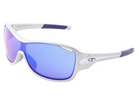 Tifosi Optics Rumor Mirrored Interchangeable Silver Purple Clarion Purple Ac Red Clear Lens Athletic Performance Sport Sunglasses White