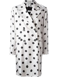 Alberto Biani Polka Dot Coat Grey