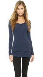 Splendid Layers Long Sleeve Tee Navy